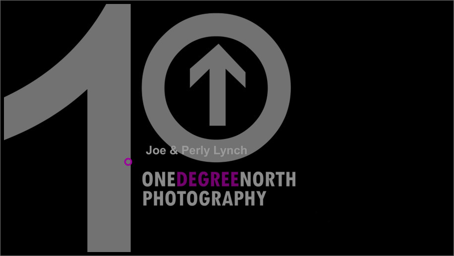 1 degree north logo PNG